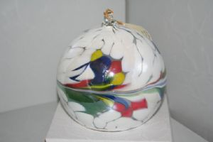 Multi Coloured Small Hand Blown Ornamental Friendship Ball